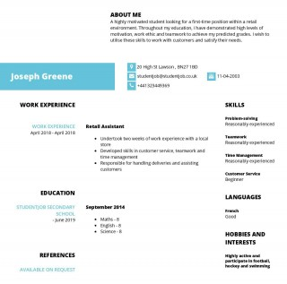 003 Phenomenal Resume Template For First Job Highest Clarity  Student Australia In High School Teenager320