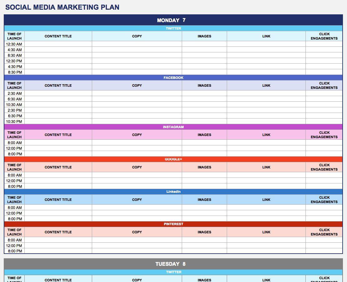 003 Phenomenal Social Media Marketing Plan Template 2018 Sample Full