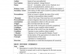 003 Phenomenal Use Case Template Word High Definition  Doc Test