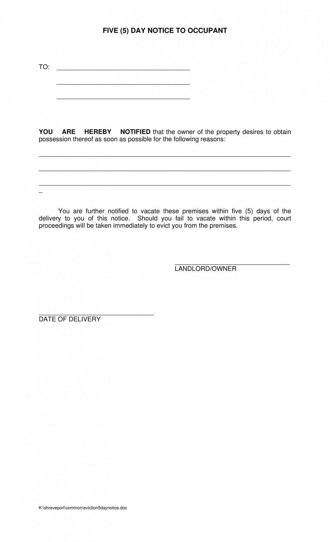 003 Rare 60 Day Notice Template Idea  To Vacate Texa Landlord California Eviction