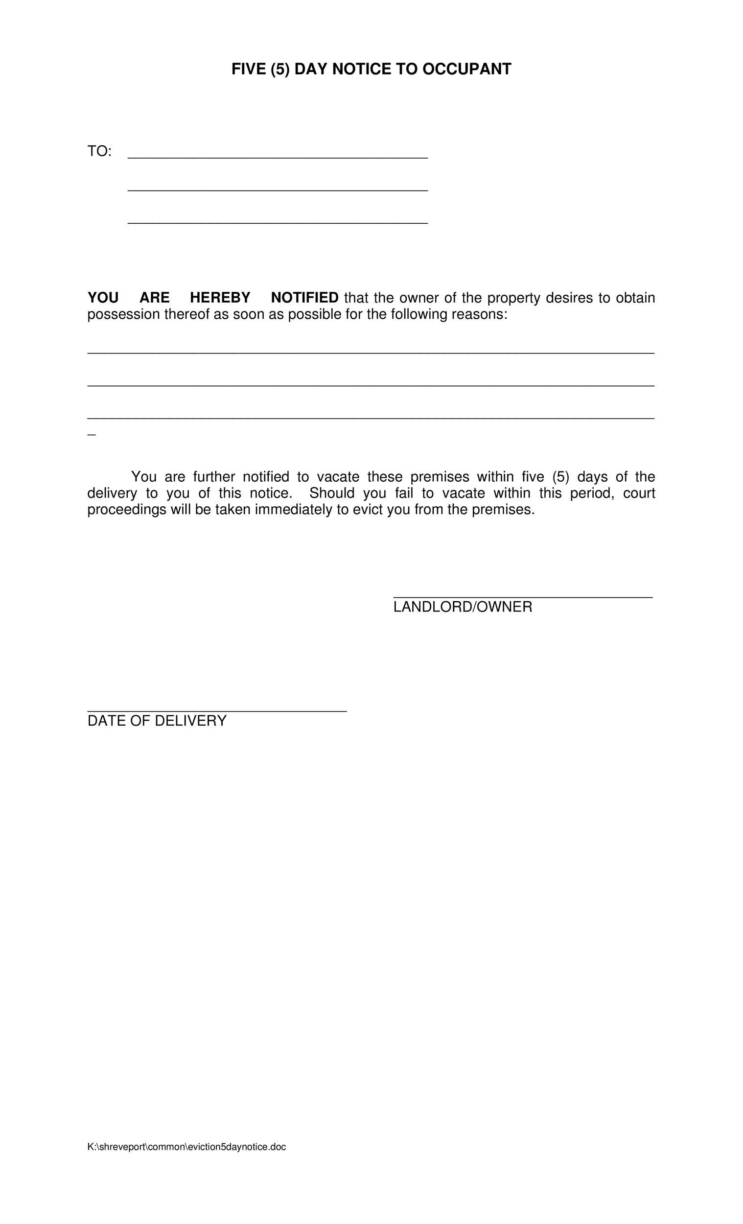 003 Rare 60 Day Notice Template Idea  To Landlord Move Out Letter Apartment LeaseFull