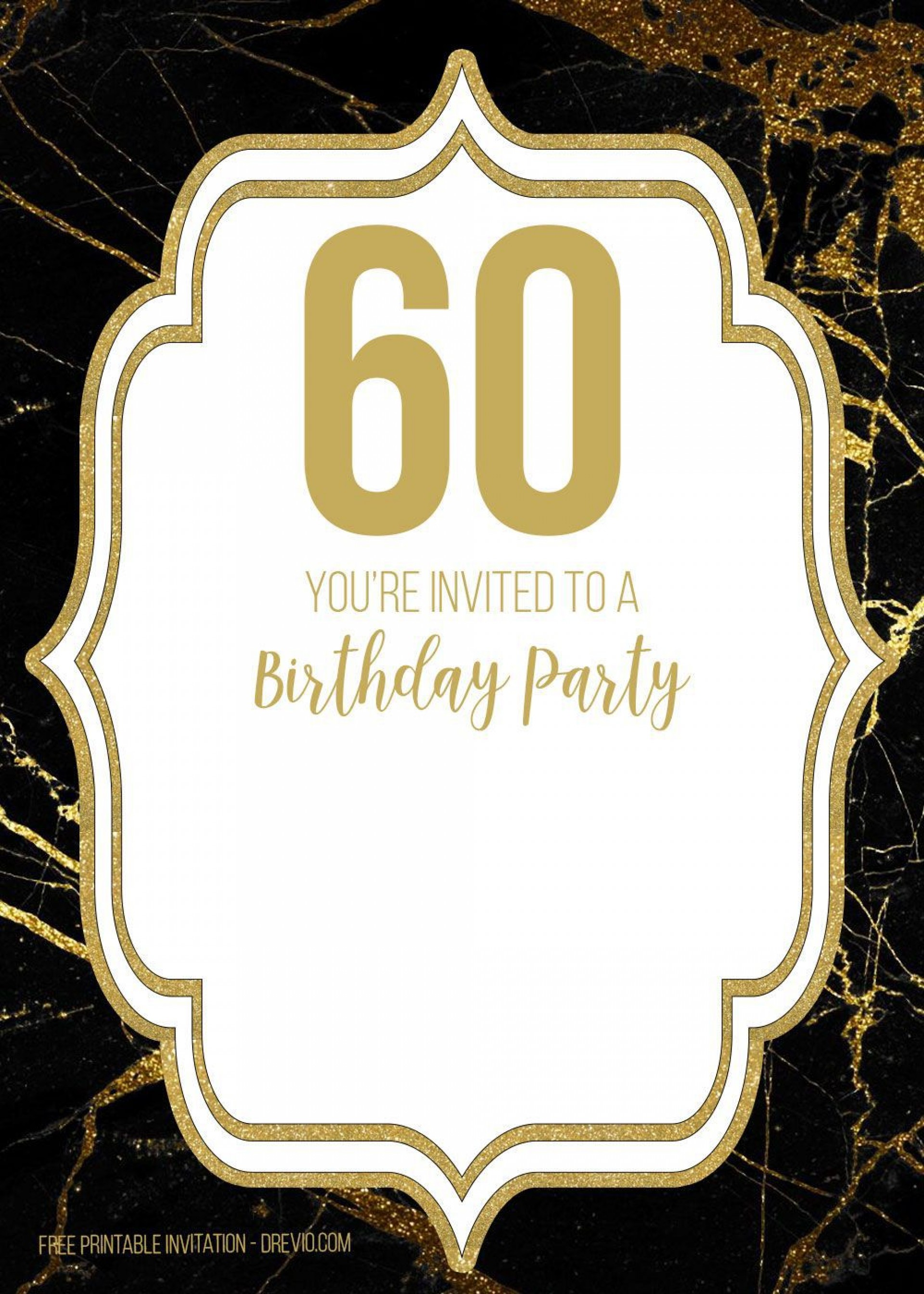 003 Rare 60th Birthday Invitation Template High Definition  Card Free Download1920