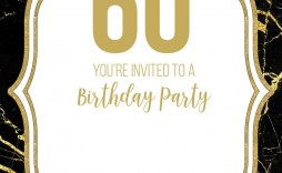 003 Rare 60th Birthday Invitation Template High Definition  Card Free Download