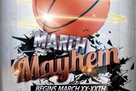 003 Rare Basketball Tournament Flyer Template Design  3 On Free