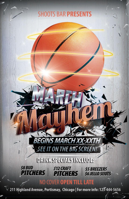 003 Rare Basketball Tournament Flyer Template Design  3 On Free960