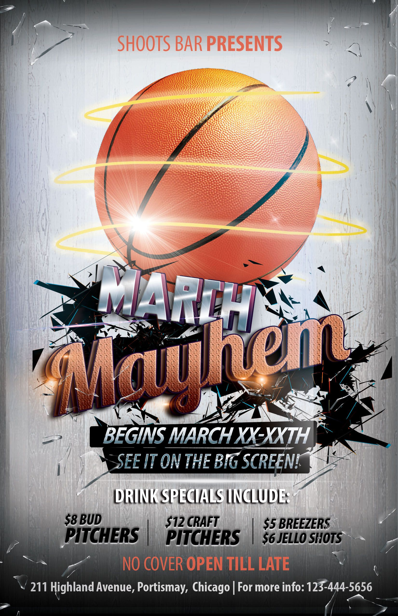 003 Rare Basketball Tournament Flyer Template Design  3 On FreeFull