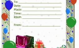 003 Rare Blank Birthday Invitation Template For Microsoft Word Highest Clarity