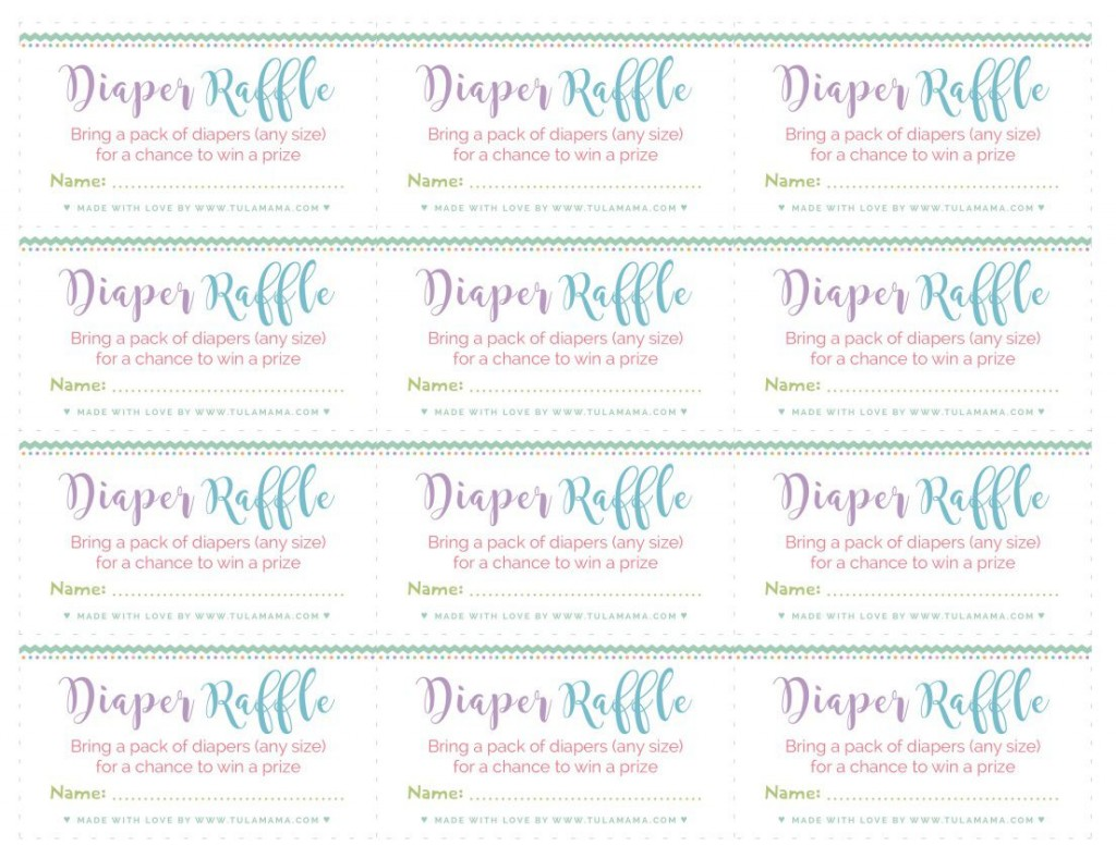 003 Rare Diaper Raffle Ticket Template High Def  Boy Free Printable Print Black And WhiteLarge