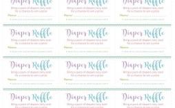 003 Rare Diaper Raffle Ticket Template High Def  Boy Free Printable Print Black And White