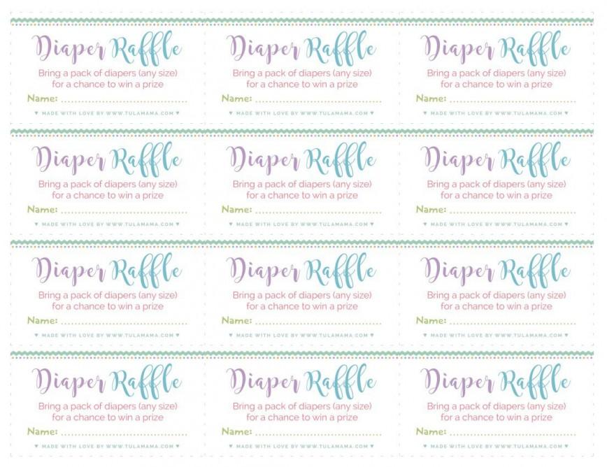 003 Rare Diaper Raffle Ticket Template High Def  Baby Shower Free Printable Editable