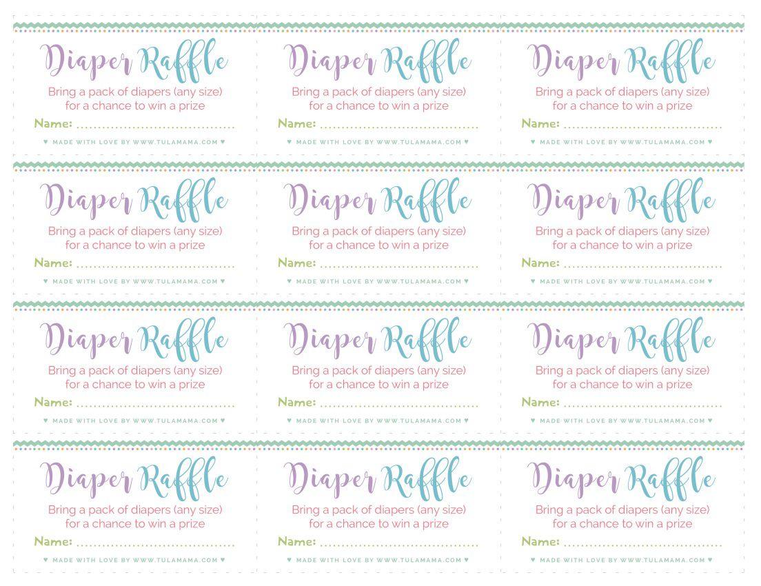 003 Rare Diaper Raffle Ticket Template High Def  Boy Free Printable Print Black And WhiteFull