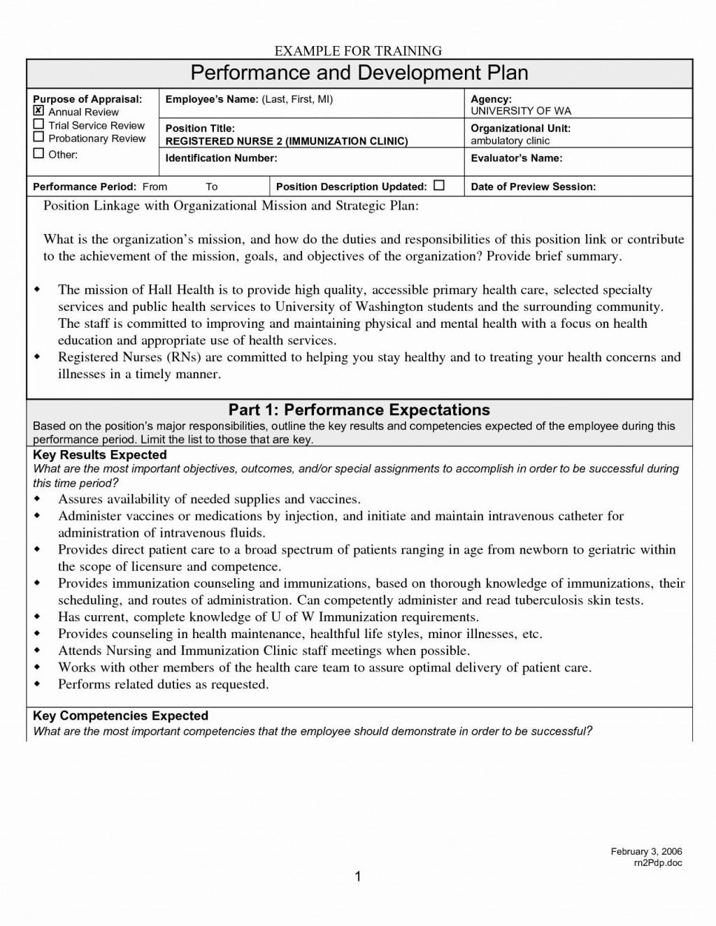 003 Rare Employee Development Plan Goal Example Idea  ExamplesLarge