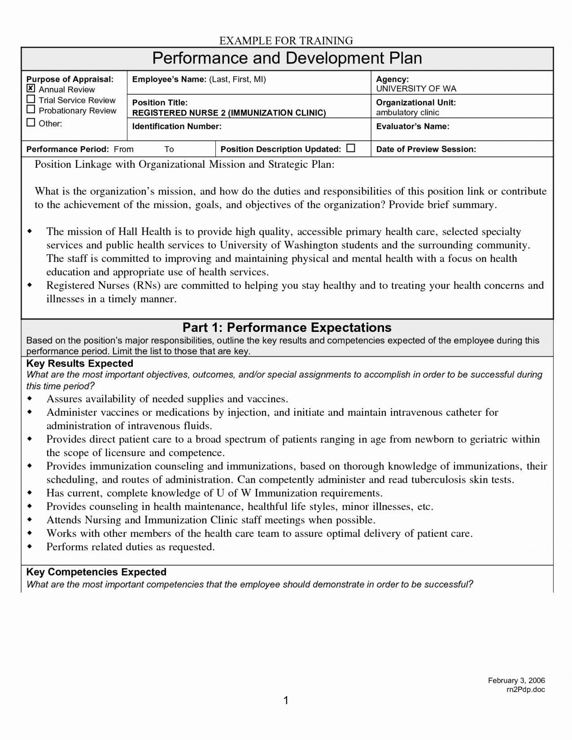 003 Rare Employee Development Plan Goal Example Idea  Examples1920