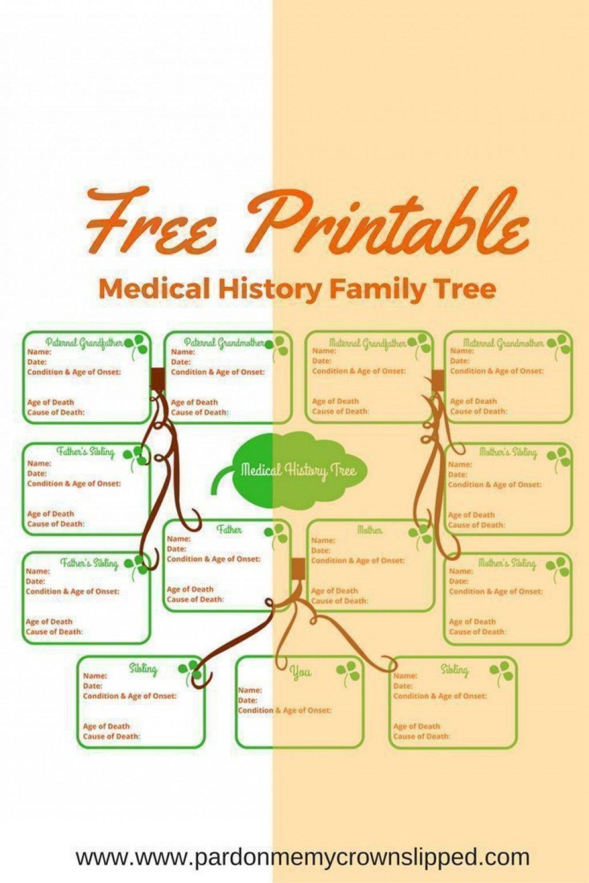 003 Rare Family Medical History Template Free High Resolution  Questionnaire1920