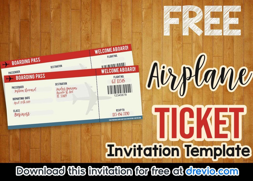 003 Rare Football Ticket Invitation Template Free Concept  Printable Party DownloadLarge