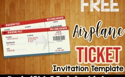 003 Rare Football Ticket Invitation Template Free Concept  Printable Party Download