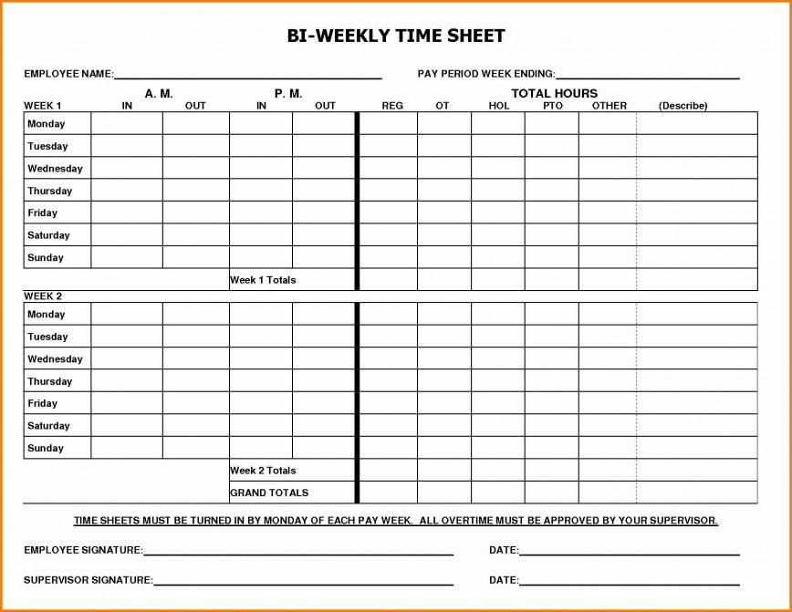 003 Rare Free Biweekly Timesheet Template Excel High Resolution