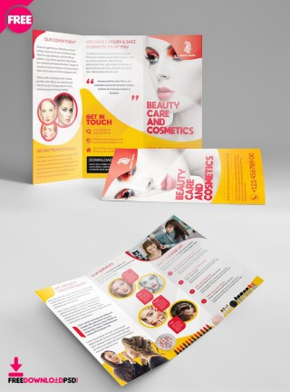 003 Rare Free Brochure Template Psd File Front And Back Inspiration 320
