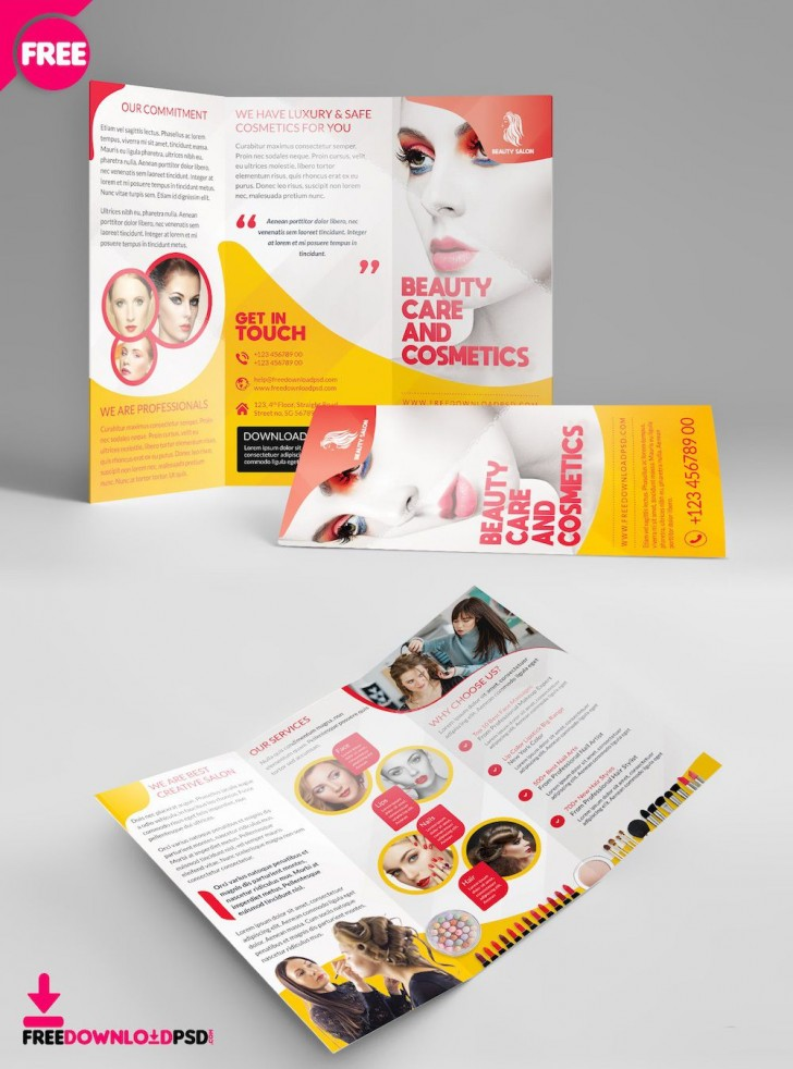 003 Rare Free Brochure Template Psd File Front And Back Inspiration 728