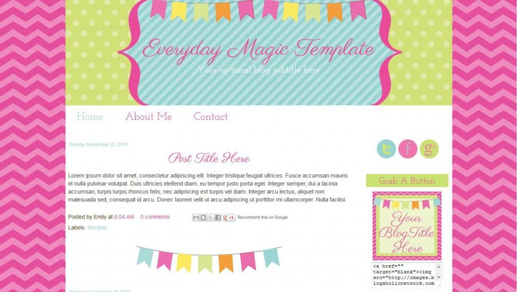 003 Rare Free Cute Blogger Template Inspiration  TemplatesLarge