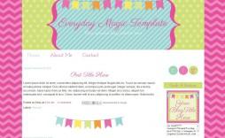 003 Rare Free Cute Blogger Template Inspiration  Templates