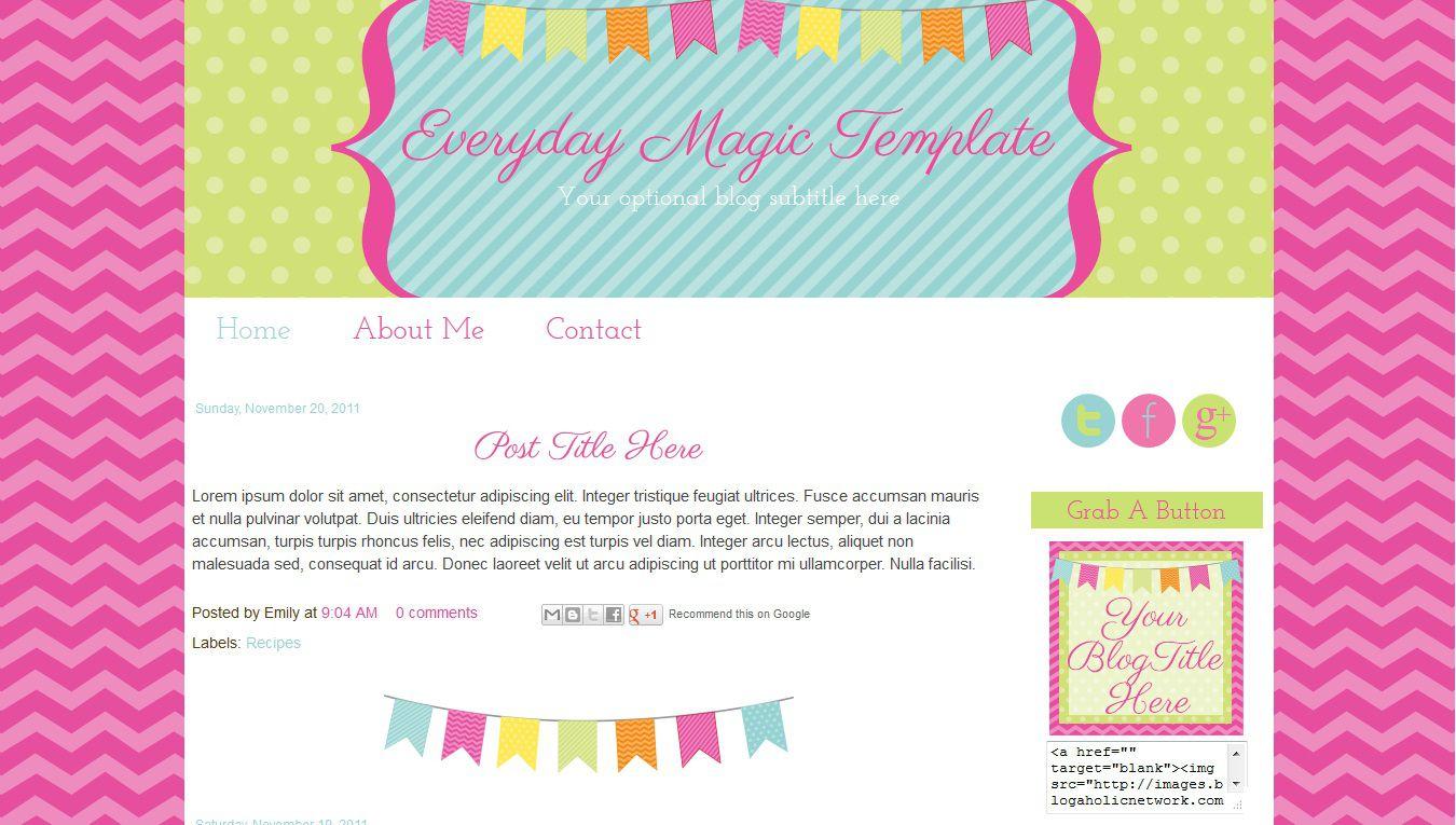 003 Rare Free Cute Blogger Template Inspiration  TemplatesFull