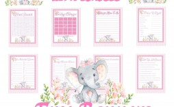 003 Rare Free Girl Elephant Baby Shower Printable Concept  Printables