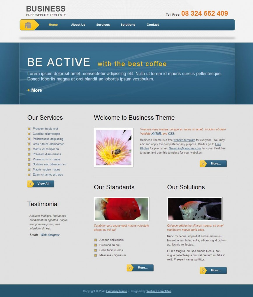 003 Rare Free Html Template Download Busines Picture  Business Corporate Website And Cs Email