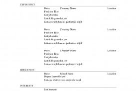 003 Rare Free Printable Resume Template Australia Concept