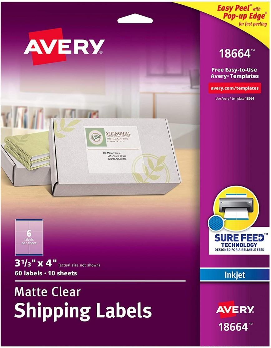 003 Rare Free Return Addres Label Template 60 Per Sheet High Def 868