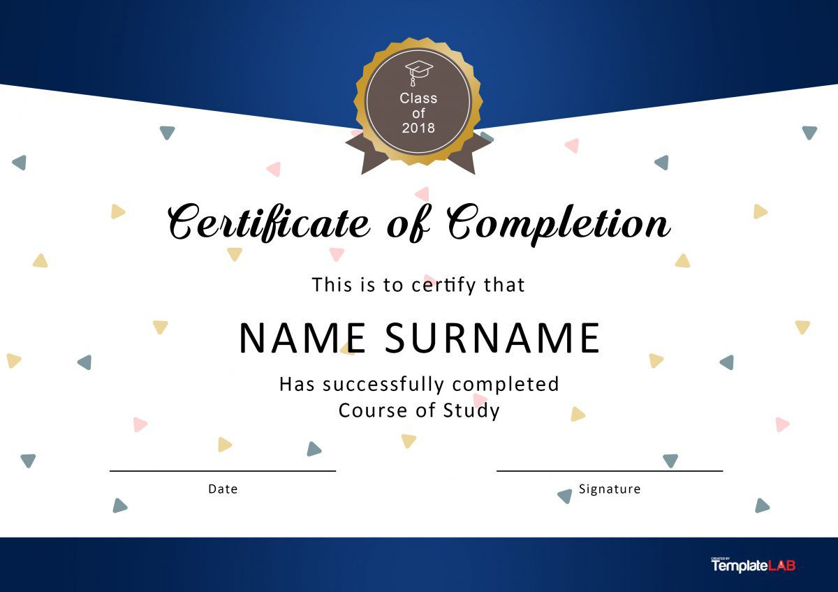 003 Rare Free Template For Certificate High Resolution  Certificates Online Of Completion Attendance Printable ParticipationFull