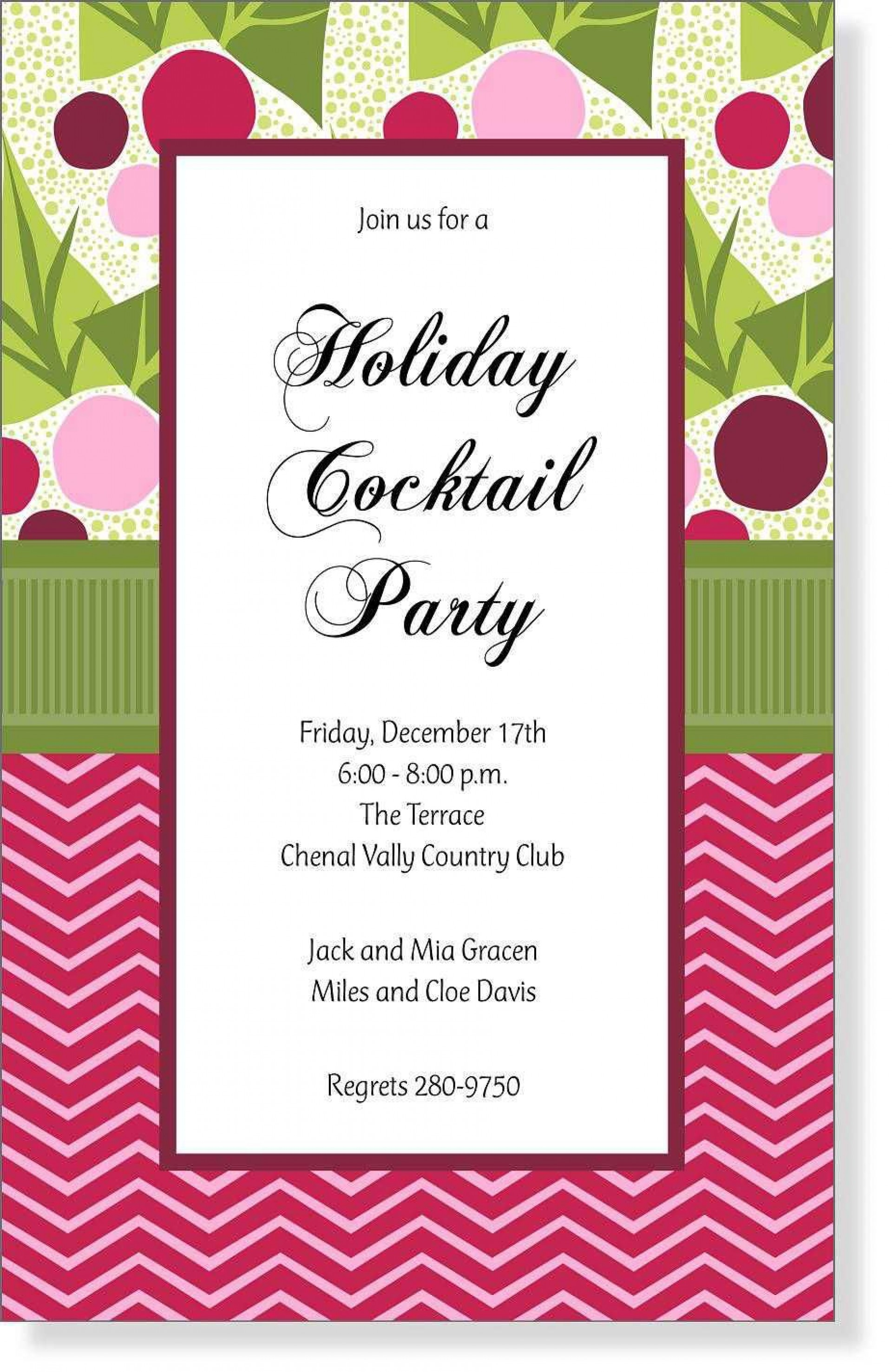 003 Rare Holiday Open House Invitation Template High Definition  Christma Free Printable Wording Idea1920