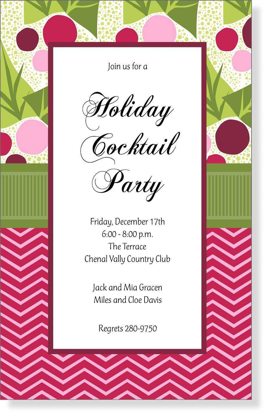 003 Rare Holiday Open House Invitation Template High Definition  Christma Free Printable Wording IdeaFull