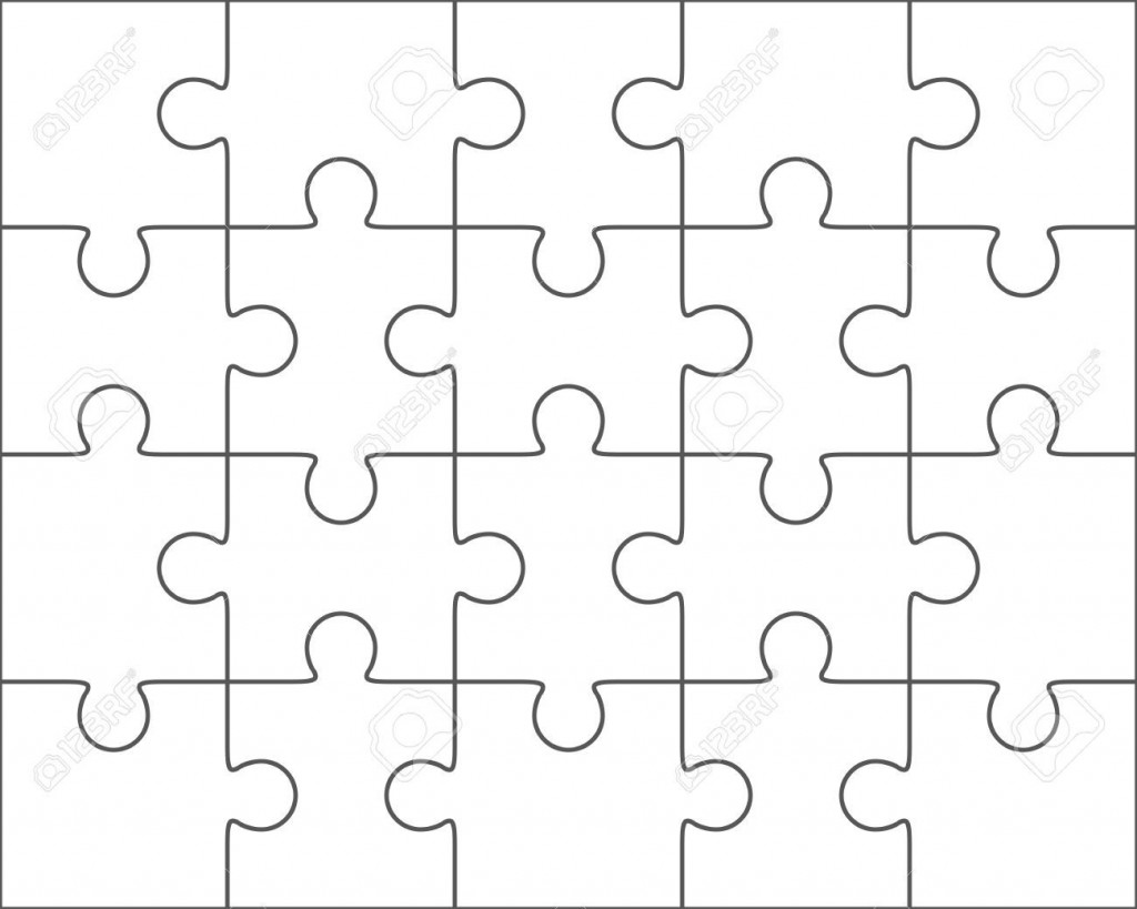 003 Rare Jig Saw Puzzle Template Idea  Printable Blank Jigsaw Vector Free PngLarge
