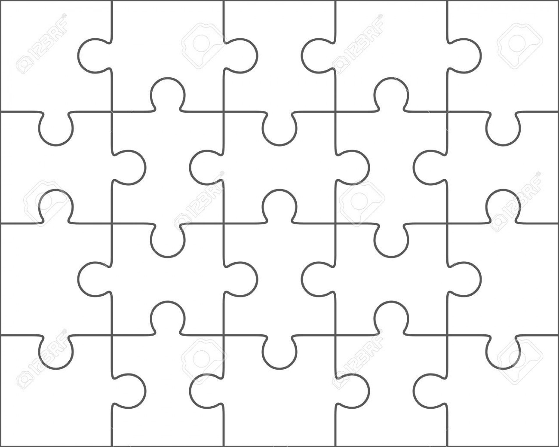 003 Rare Jig Saw Puzzle Template Idea  Printable Blank Jigsaw Vector Free Png1920