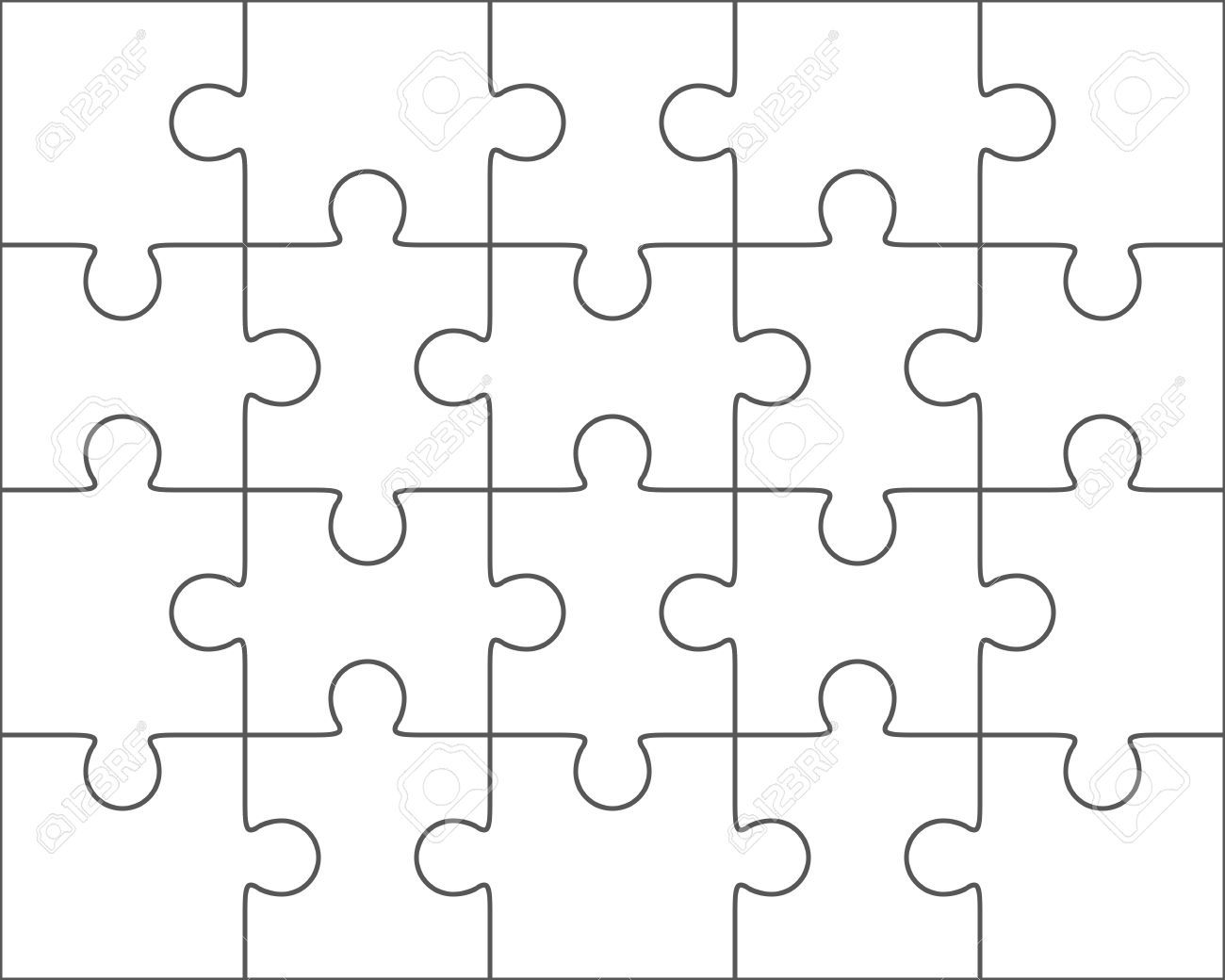 003 Rare Jig Saw Puzzle Template Idea  Printable Blank Jigsaw Vector Free PngFull