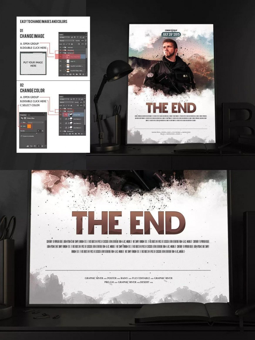 Movie Poster Template Free Download from www.addictionary.org