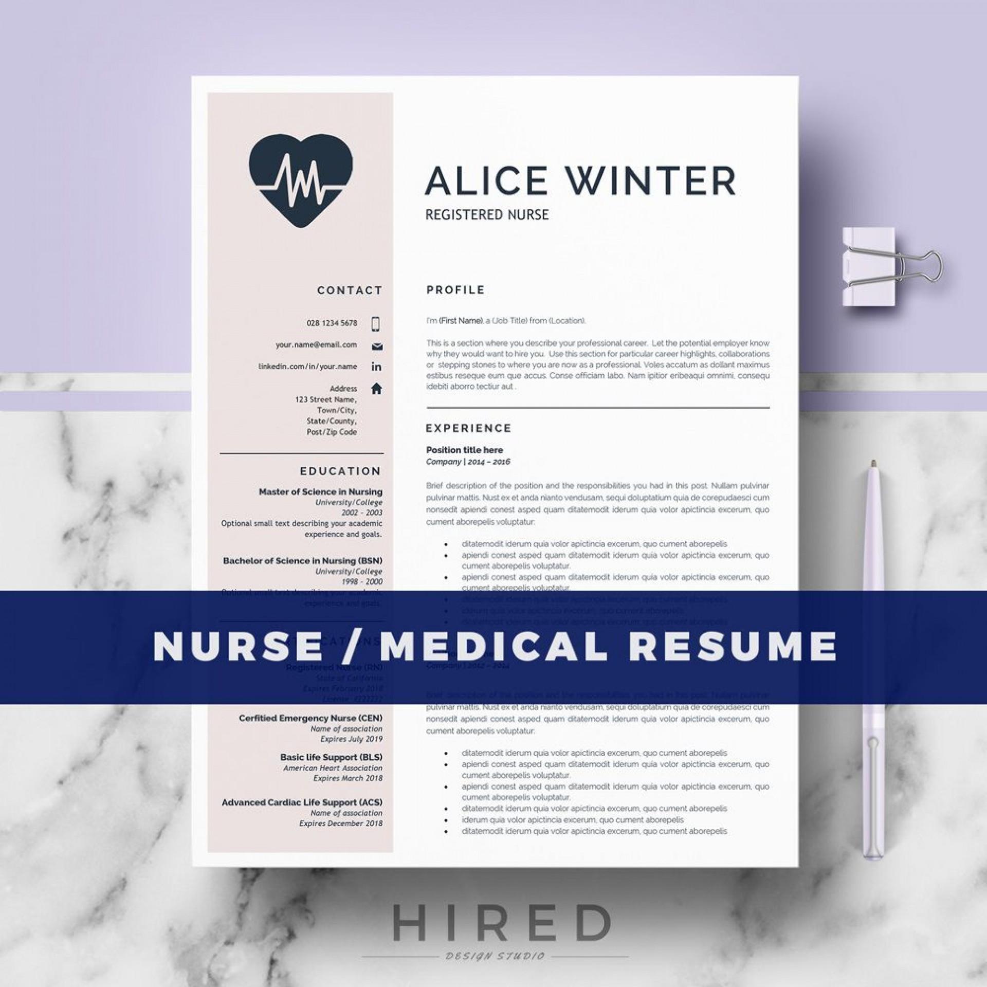 003 Rare Nurse Resume Template Word Design  Cv Free Download Rn1920