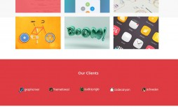 003 Rare One Page Website Template Psd Free Download Sample