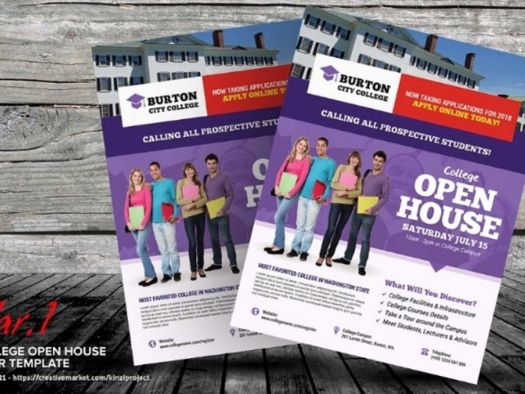 003 Rare Open House Flyer Template Word Concept  Free MicrosoftLarge