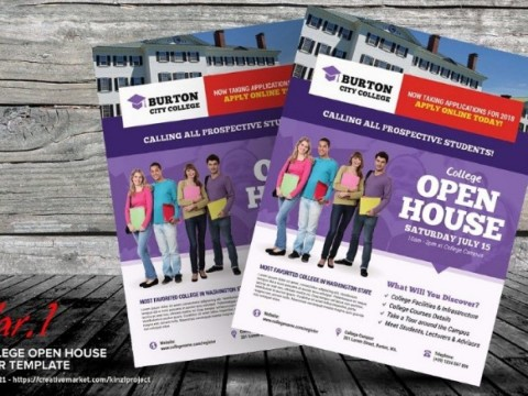 003 Rare Open House Flyer Template Word Concept  Free Microsoft480