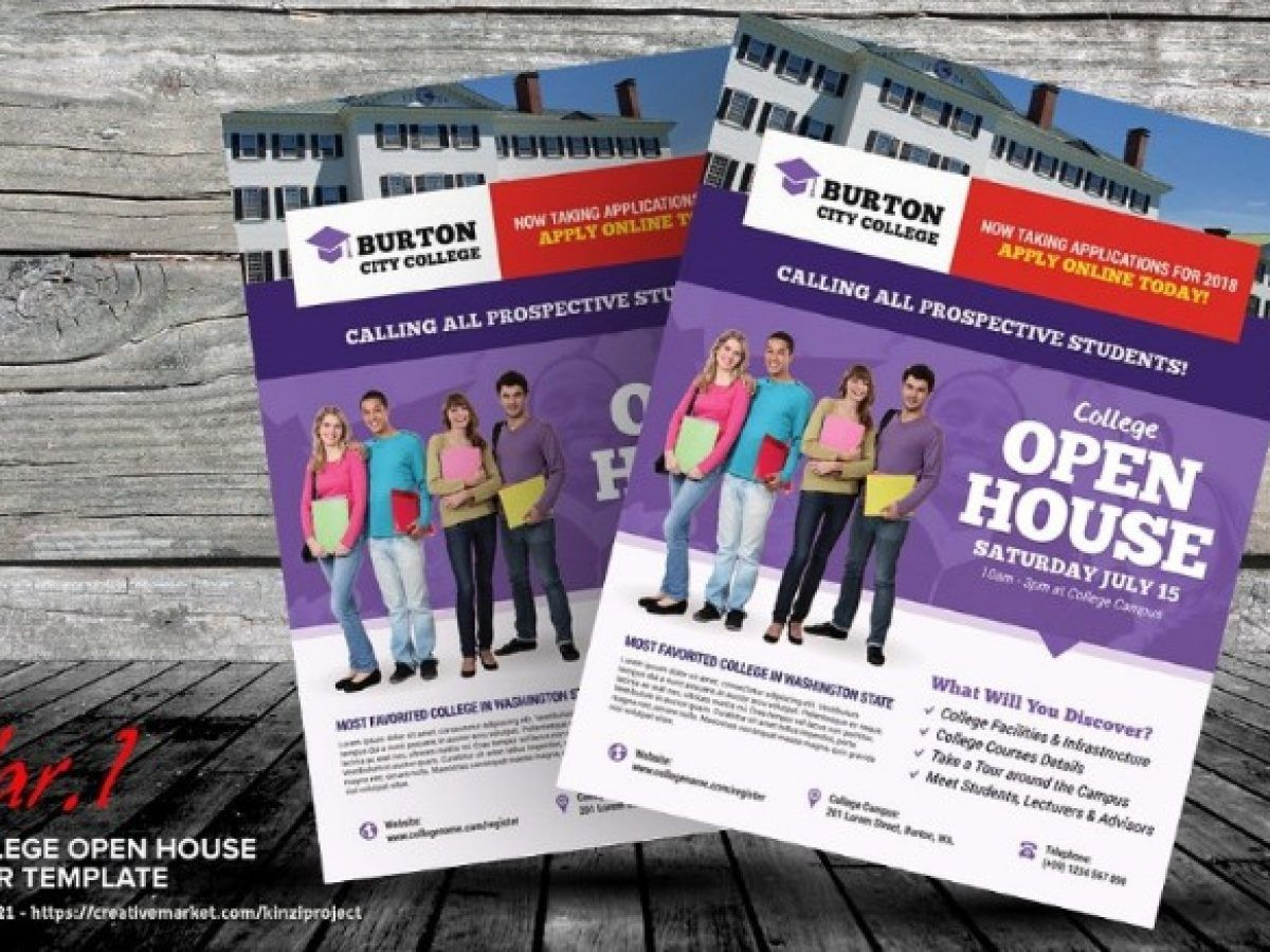 003 Rare Open House Flyer Template Word Concept  Free MicrosoftFull