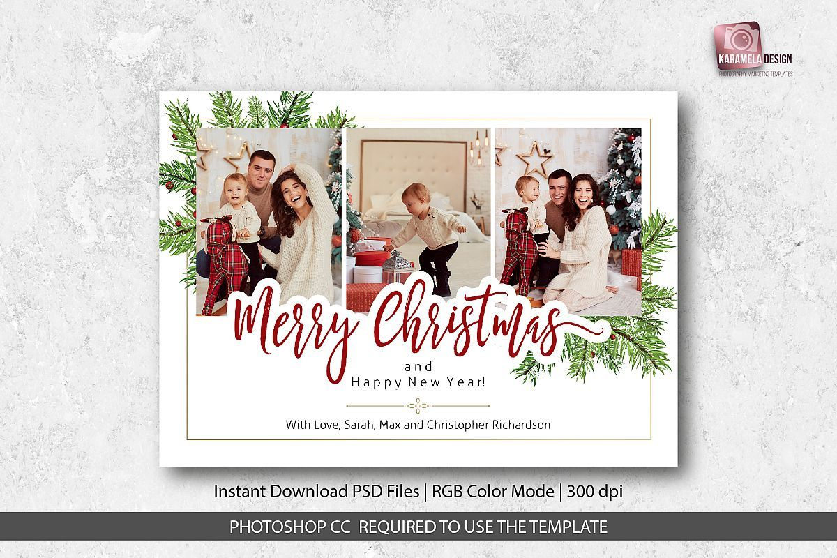 003 Rare Photoshop Christma Card Template Design  Templates Xma FunnyFull