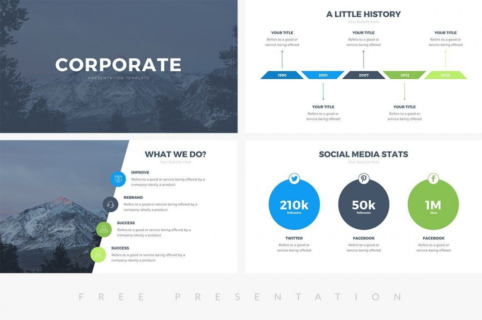 003 Rare Ppt Busines Presentation Template Free Image  Best For Download960