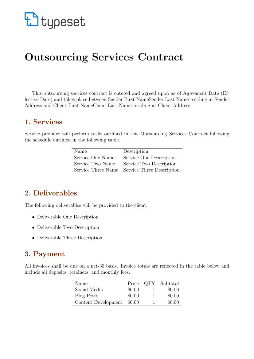 003 Rare Service Contract Template Doc Design  Docx Simple Level AgreementFull