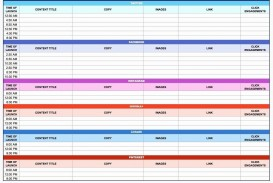 003 Rare Social Media Plan Template High Resolution  Free Download Ppt Marketing Excel