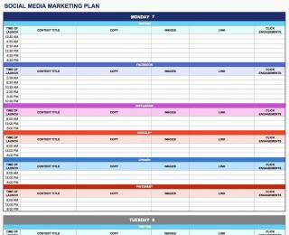 003 Rare Social Media Plan Template High Resolution  Doc Download Marketing Excel320