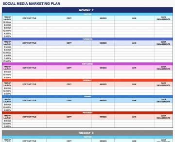 003 Rare Social Media Plan Template High Resolution  Doc Download Marketing Excel360