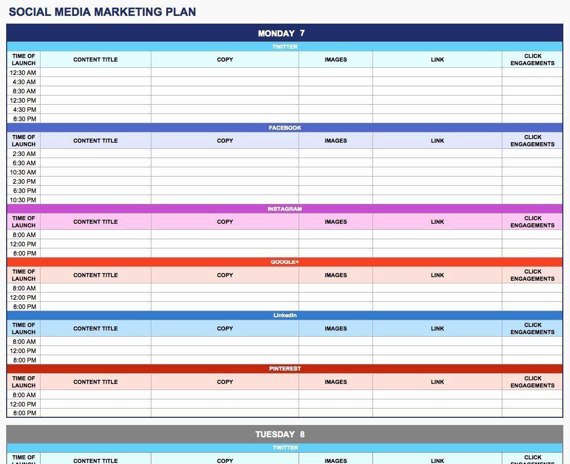 003 Rare Social Media Plan Template High Resolution  Doc Download Marketing ExcelFull