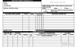 003 Rare Straight Bill Of Lading Template High Def  Free Uniform Form Pdf Word